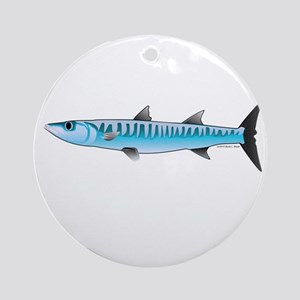 Pacific Barracuda fish Ornament (Round)