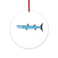 Pacific Barracuda fish Ornament (Round)