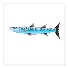 Pacific Barracuda fish Square Car Magnet 3