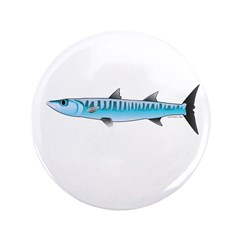"Pacific Barracuda fish 3.5"" Button (100 pack)"