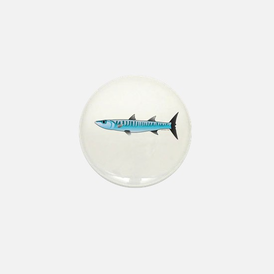 Pacific Barracuda fish Mini Button
