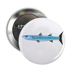"""Pacific Barracuda fish 2.25"""" Button"""