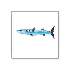 Pacific Barracuda fish Square Sticker 3