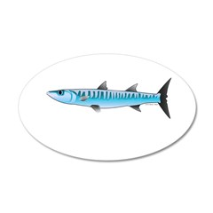 Pacific Barracuda fish Wall Decal