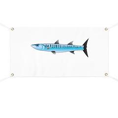 Pacific Barracuda fish Banner