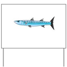 Pacific Barracuda fish Yard Sign
