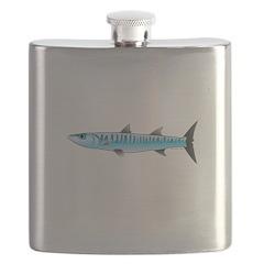 Pacific Barracuda fish Flask