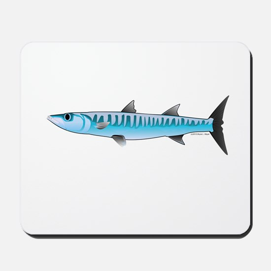 Pacific Barracuda fish Mousepad