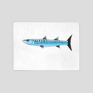 Pacific Barracuda fish 5'x7'Area Rug