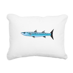 Pacific Barracuda fish Rectangular Canvas Pillow