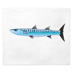 Pacific Barracuda fish King Duvet