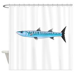 Pacific Barracuda fish Shower Curtain
