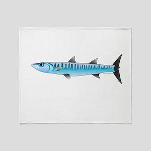Pacific Barracuda fish Throw Blanket