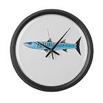 Pacific Barracuda fish Large Wall Clock