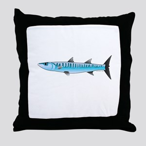 Pacific Barracuda fish Throw Pillow