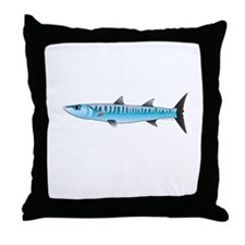 Pacific Barracuda fish Throw Pillow