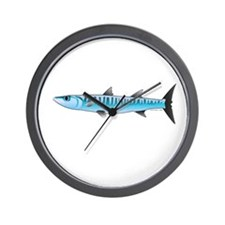 Pacific Barracuda fish Wall Clock