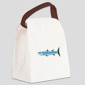 Pacific Barracuda fish Canvas Lunch Bag