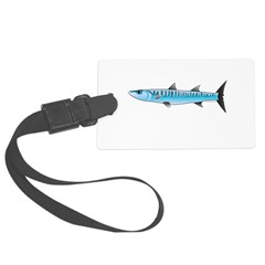 Pacific Barracuda fish Luggage Tag