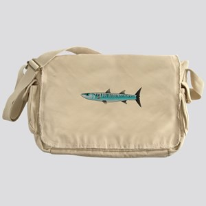 Pacific Barracuda fish Messenger Bag
