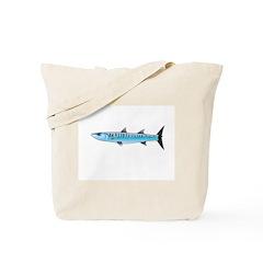Pacific Barracuda fish Tote Bag