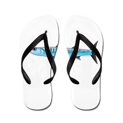 Pacific Barracuda fish Flip Flops