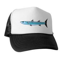 Pacific Barracuda fish Trucker Hat