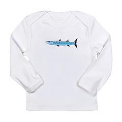 Pacific Barracuda fish Long Sleeve Infant T-Shirt