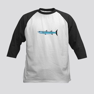 Pacific Barracuda fish Kids Baseball Jersey