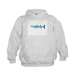 Pacific Barracuda fish Hoodie