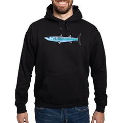 Pacific Barracuda fish Hoodie (dark)