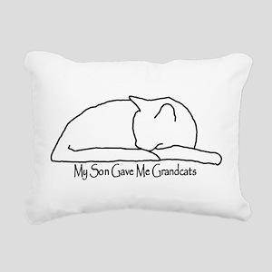 My Son Gave Me Grandcats Rectangular Canvas Pillow