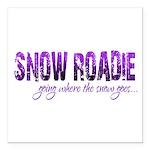 Snow Roadie Square Car Magnet 3
