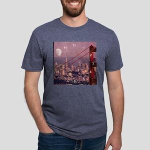 Moon over San Francisco clo Mens Tri-blend T-Shirt