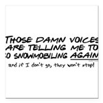 damnvoices23.png Square Car Magnet 3