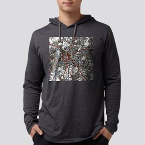 Leicester Road Map Mens Hooded Shirt