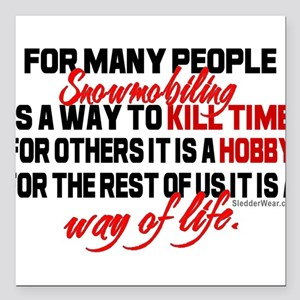 "Way of Life Square Car Magnet 3"" x 3"""