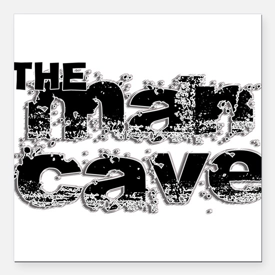 "Man Cave Square Car Magnet 3"" x 3"""