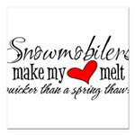 Heart Melt Square Car Magnet 3