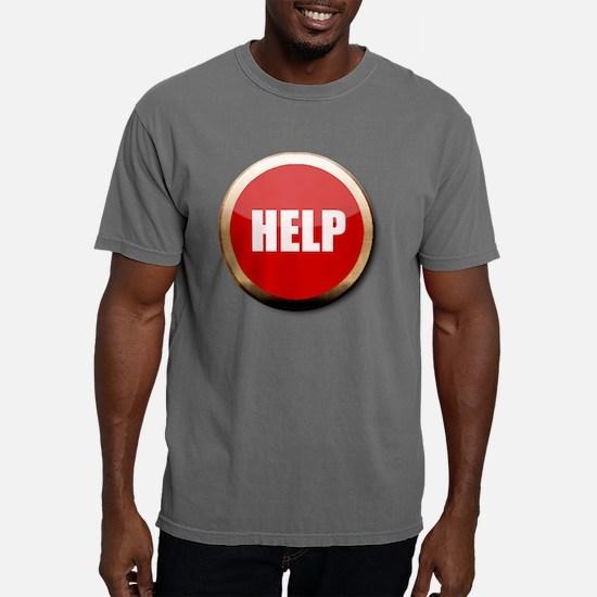 Help Button Mens Comfort Colors Shirt