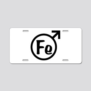 Fe Man Aluminum License Plate