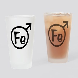 Fe Man Drinking Glass