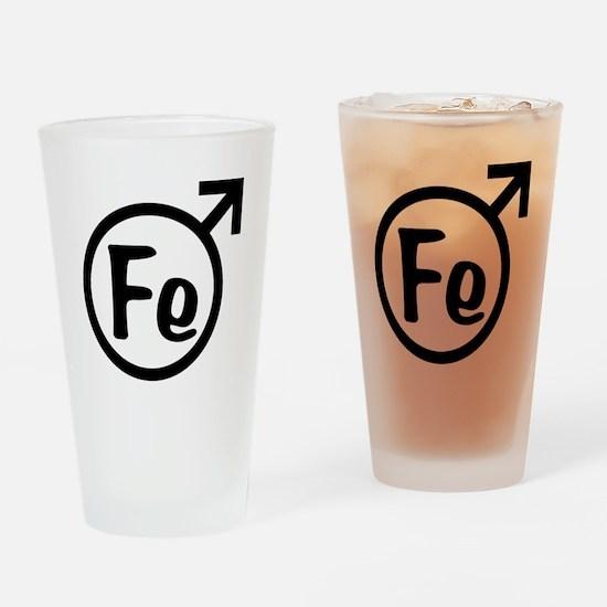 Fe Man Drinking Glass