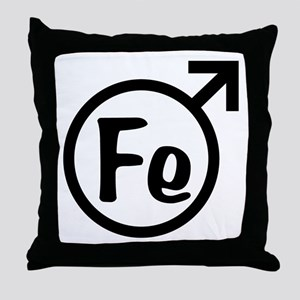 Fe Man Throw Pillow