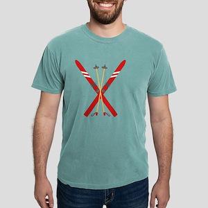 Vintage Ski Poles Mens Comfort Colors Shirt