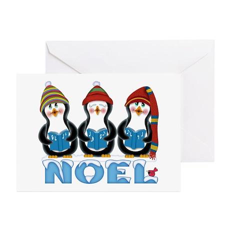 Noel Penguin Trio Greeting Cards (Pk of 10)