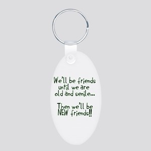 Well be friends png Aluminum Oval Keychain