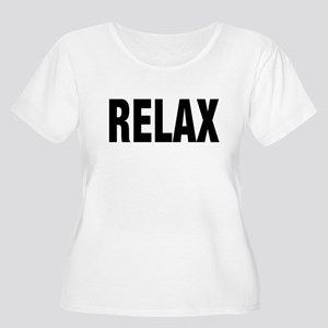 RELAX WHITE Plus Size T-Shirt