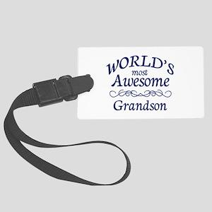 Awesome Grandson Large Luggage Tag