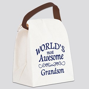 Awesome Grandson Canvas Lunch Bag